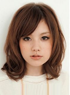 Hairstyle  for Asian not straight hair  round  face  Google