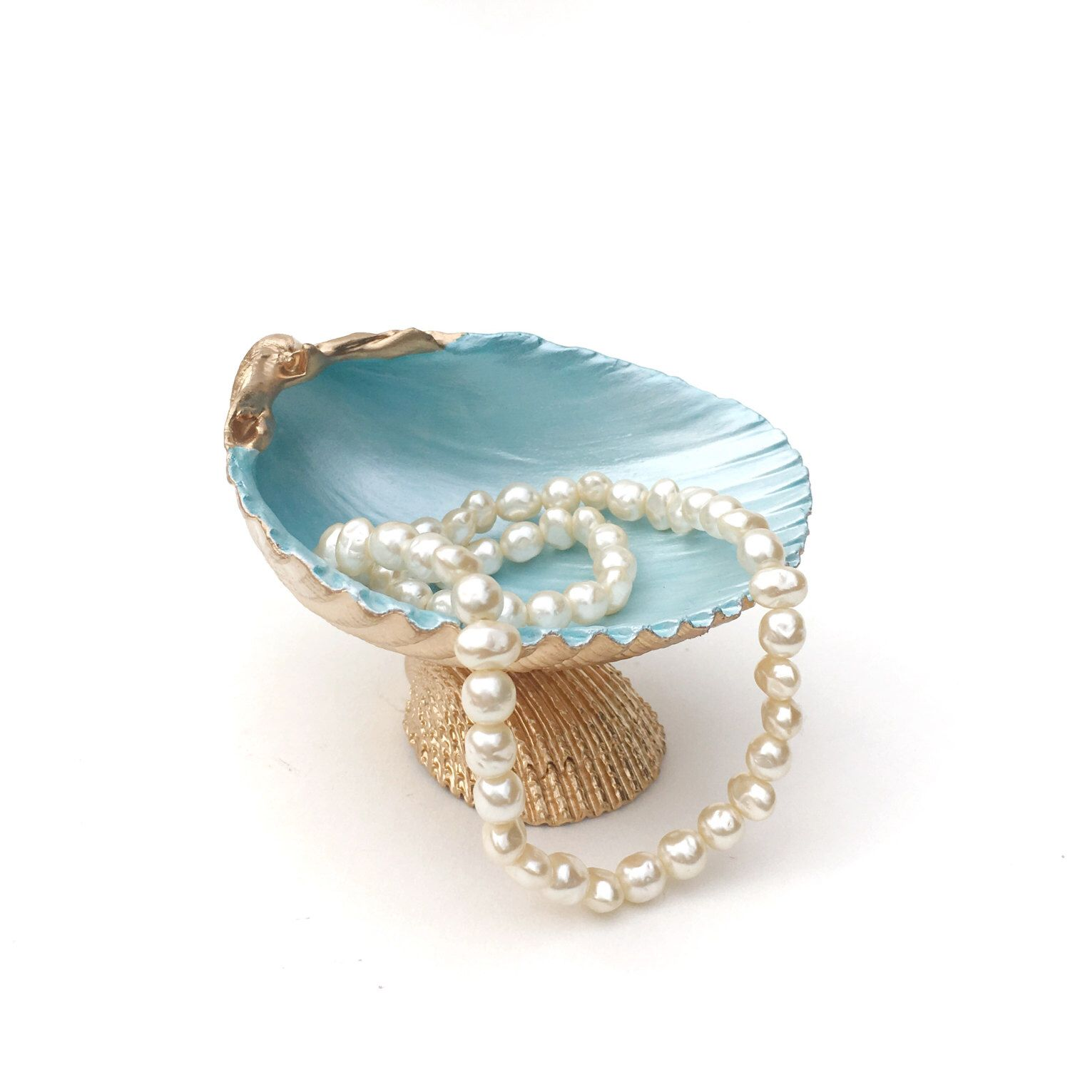 Ring Dish Beach Decor Seashell Ring Holder Trinket Dish