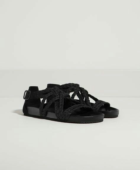 Sandalias trenza cruzadas