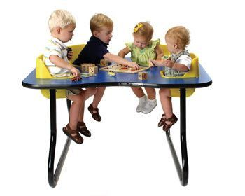 """TT-4SS TODDLER TABLE 4 Seat Space Saver Table, 27"""""""" Tall"""