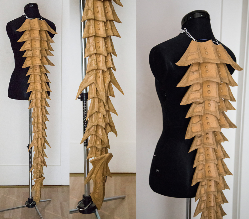 dragon tail & back | Cosplay tutorial, Cosplay costumes ...
