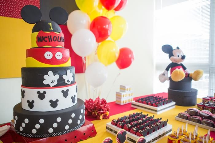 Mickey Mouse Party Planning Ideas Supplies Idea Cake Minnie