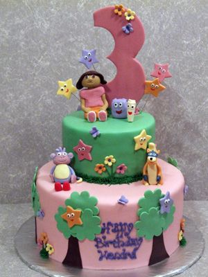 dora and friends birthday cake Dessert ideas Pinterest