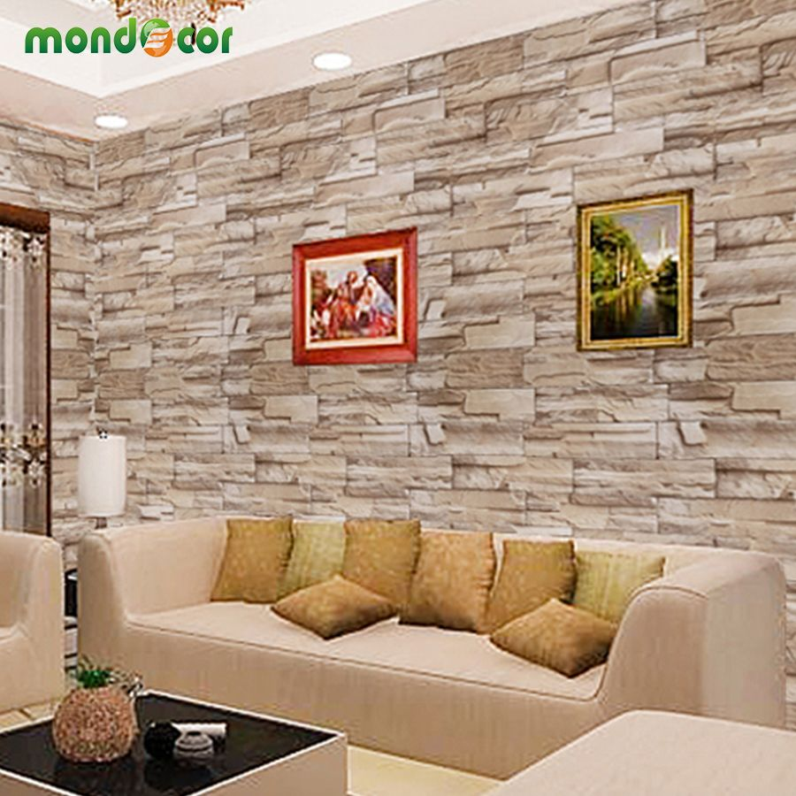 0.4mX10m Home Decor wall decals PVC vinyl Brick waterproof