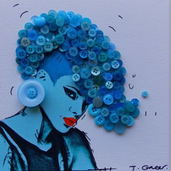 BUTTON ART with Artist Tracy Greer  https://www.facebook.com/tracygreerartist