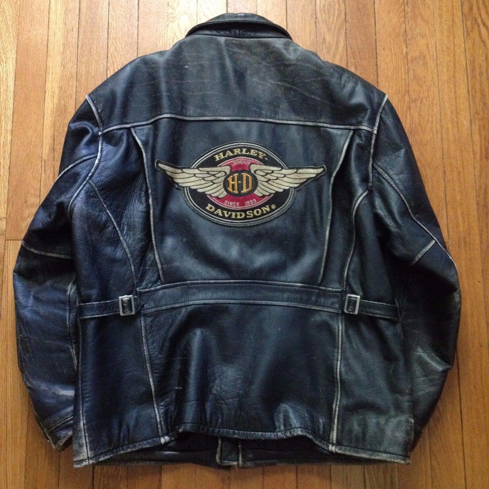 Vintage Harley Davidson Black Leather Motorcycle Jacket Harley Davidson Leather Jackets Black Leather Motorcycle Jacket Harley [ 1600 x 1600 Pixel ]