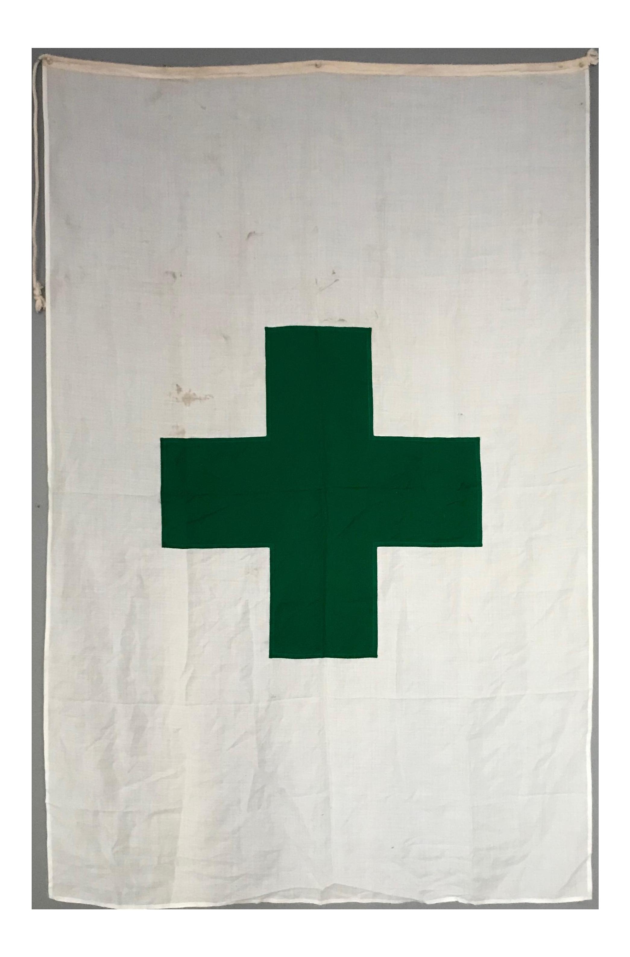 Vintage International Green Cross Flag Chairish Cross Flag Flag Vintage