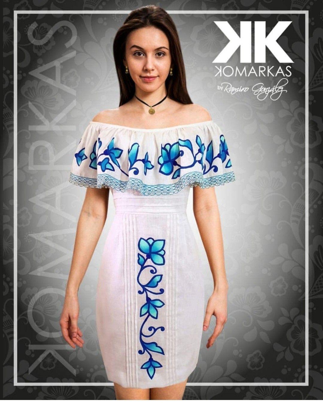 Un Modo Vestido De Kmarkas Vestidos Estilizados Panameños