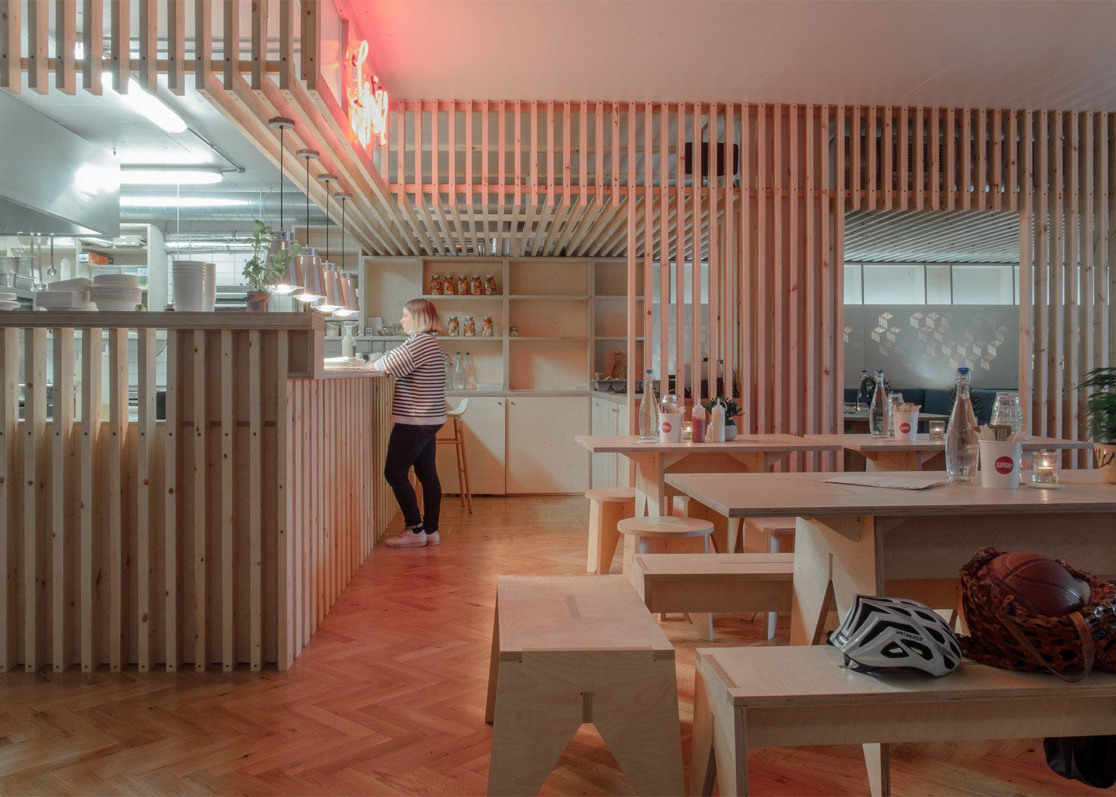 Fleet Architects Design Mason And Company S New Hackney Wick Bar Here East Commercial Space Design Space Restaurants Bar Restaurant Interior