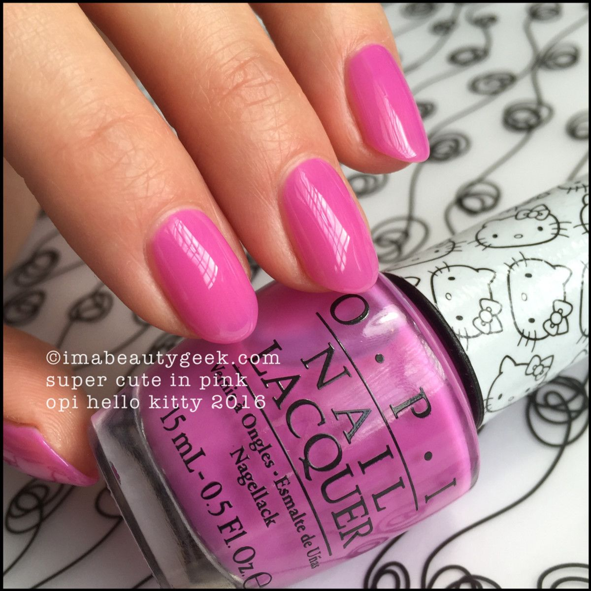 opi super cute in pink – opi hello kitty 2016 | opi pink