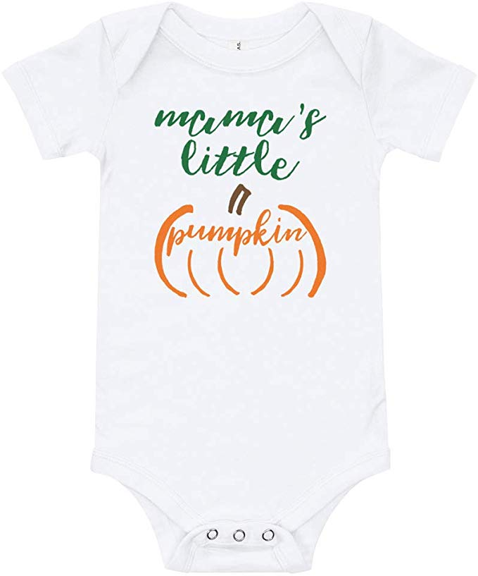 Amazon.com: Mama's Little Pumpkin - Cute Pumpkin Patch Outfit - Halloween Apparel - Baby or Toddler Bodysuit: Clothing #pumpkinpatchoutfit