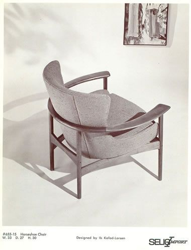 Horseshoe Chair By Ib Kofod Larsen