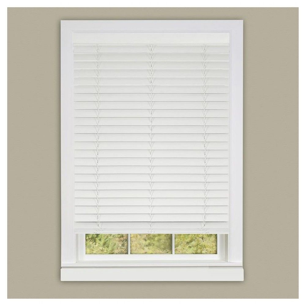"Achim Madera Falsa Cordless Blind White (23""x64"