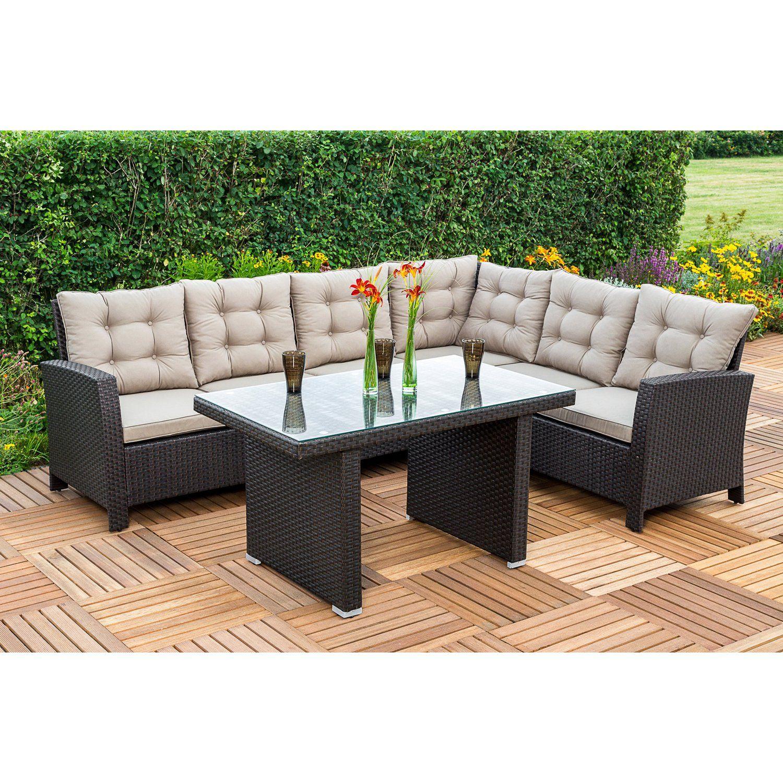 Merxx Gartenmobel Set Lounge Ecke Salerno Braun 2 Teilig Kaufen Bei Obi Lounge Mobel Gartenmobel Eckbank Mit Tisch