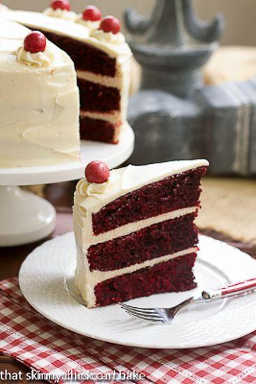 Chocolate cake with white chocolate cream cheese frosting