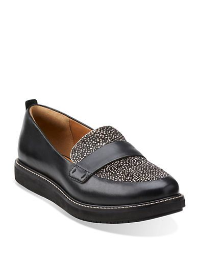 Glick Avalee Blk Interest Lea - Clarks Womens Shoes - Womens Heels and Flats  - Clarks - Clarks® Shoes