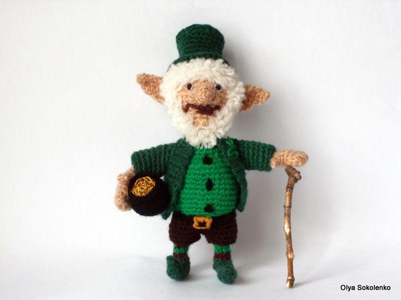 leprechaun crochet,St.Patrick \'s Day,crochet Gnome etsy.com/shop ...