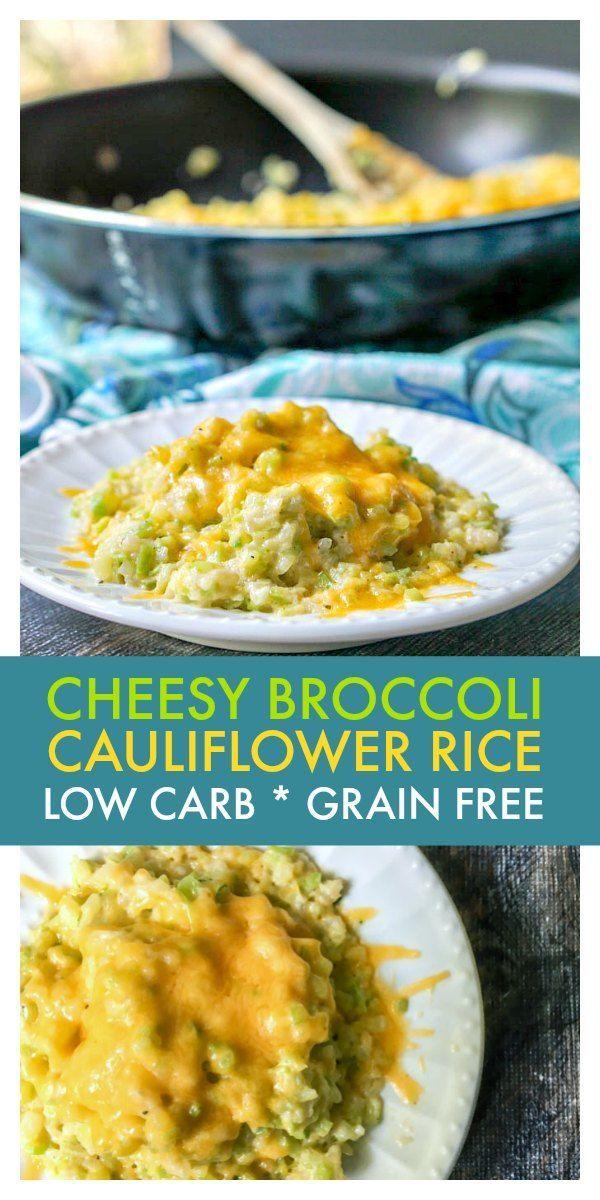 Cheesy Broccoli Cauliflower Rice #SundaySupper -   22 riced cauliflower recipes ideas