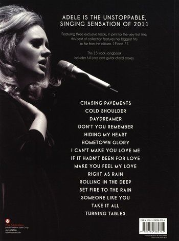 Sheet music for guitar / piano / voice - Adele - Best Of Adele ...