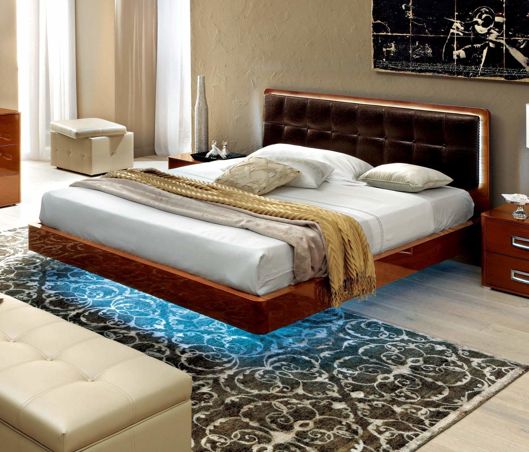 Plano Upholstered Paltform Bed Upholstered Platform Bed Leather
