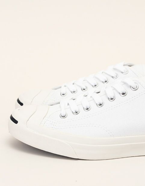 Converse Jack Purcell Canvas. White trainers.
