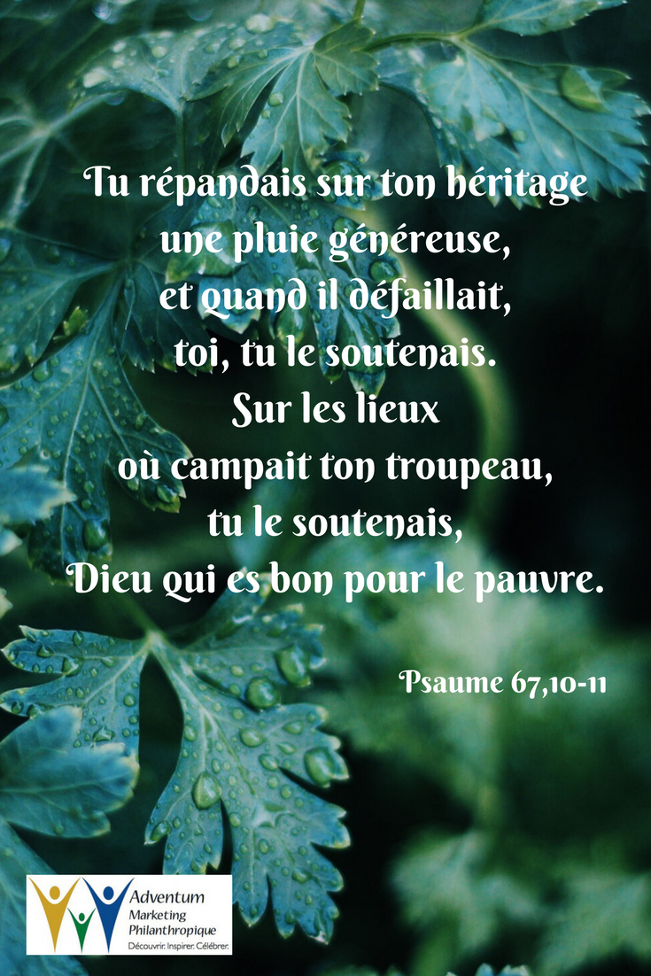 30 mai 2017 – Psaume 67,10-11   Psalms, Psalm 68, Word of god