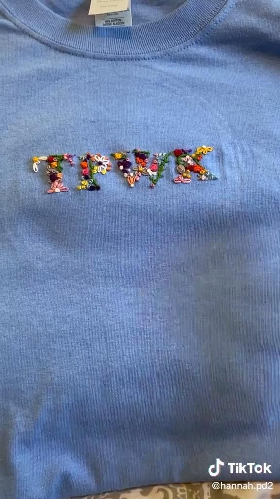 Treat People With Kindness Embroidery Tik Tok Video Clothes Embroidery Diy Diy Embroidery Shirt Sewing Embroidery Designs