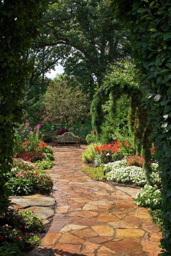 Romantic Garden Pathway Decorating Ideas Romantic Garden ... on Romantic Patio Ideas id=92493