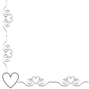 heart border clipart image black and white heart border