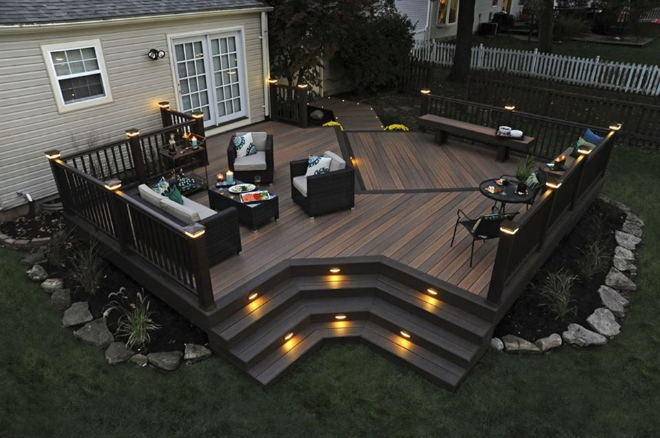 Pin By Jessica Martinache Fox On Backyard Patio Deck Designs