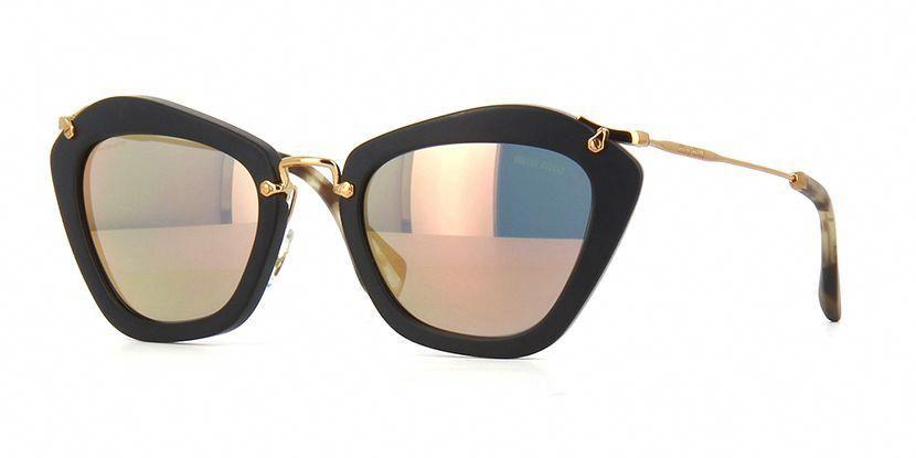 e1a0f4c9285 Miu Miu Noir MU 10NS 1BO2D2 Gold Mirror Sunglasses  MiuMiu