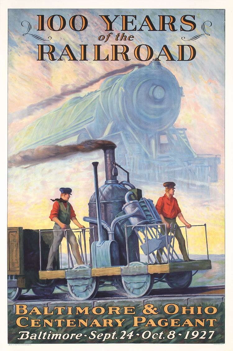 Art print POSTER American Orient Express Train at Crossing