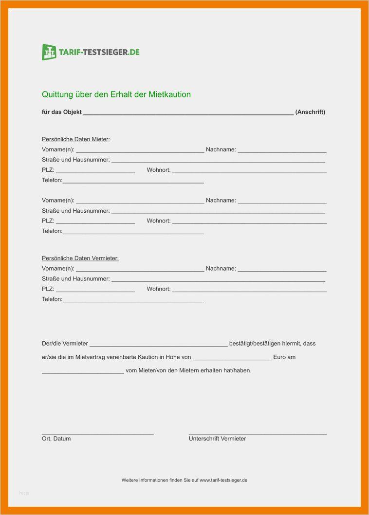 Kaution Gratis Vorlagen Und Musterschreiben Downloaden 10