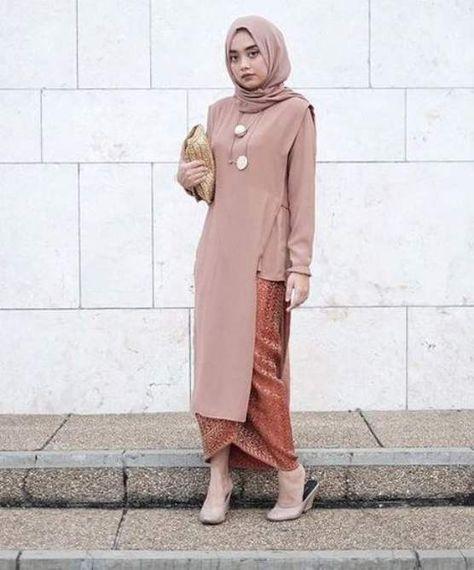Jilbab Untuk Baju Batik: Model Kebaya Wisuda Modern Simple