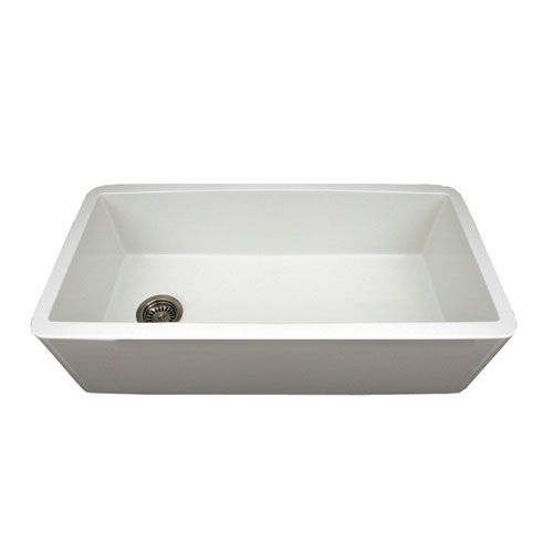 Fireclay Farmhaus White 36 Inch Duet Reversible Fireclay Sink W Smooth Front Apron White Love That T Apron Sink Kitchen Apron Front Kitchen Sink Fireclay Sink