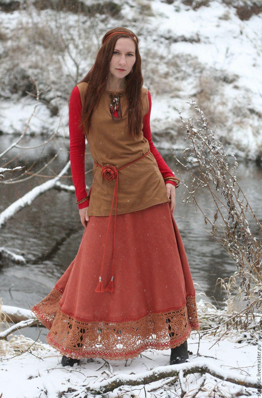 034a5792e43 Купить Льняная юбка - полусолнце в пол