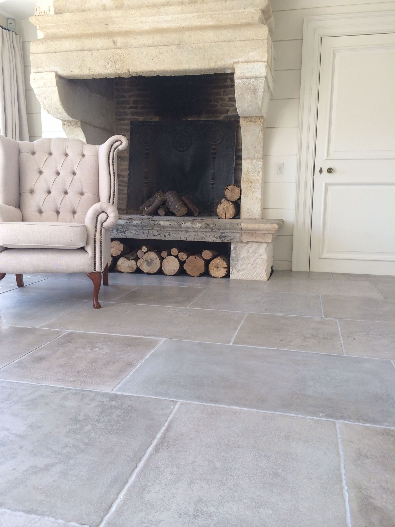 Geneva Provence hand finished limestone from Isreal with a distinctive hammered finish.