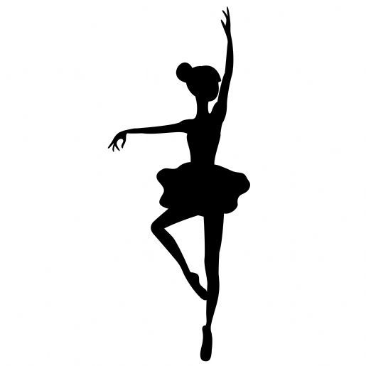 Stickers danseuse l na stickers muraux mandellia ballerine silhouette danseuse pochoir - Coloriage de danseuse ...