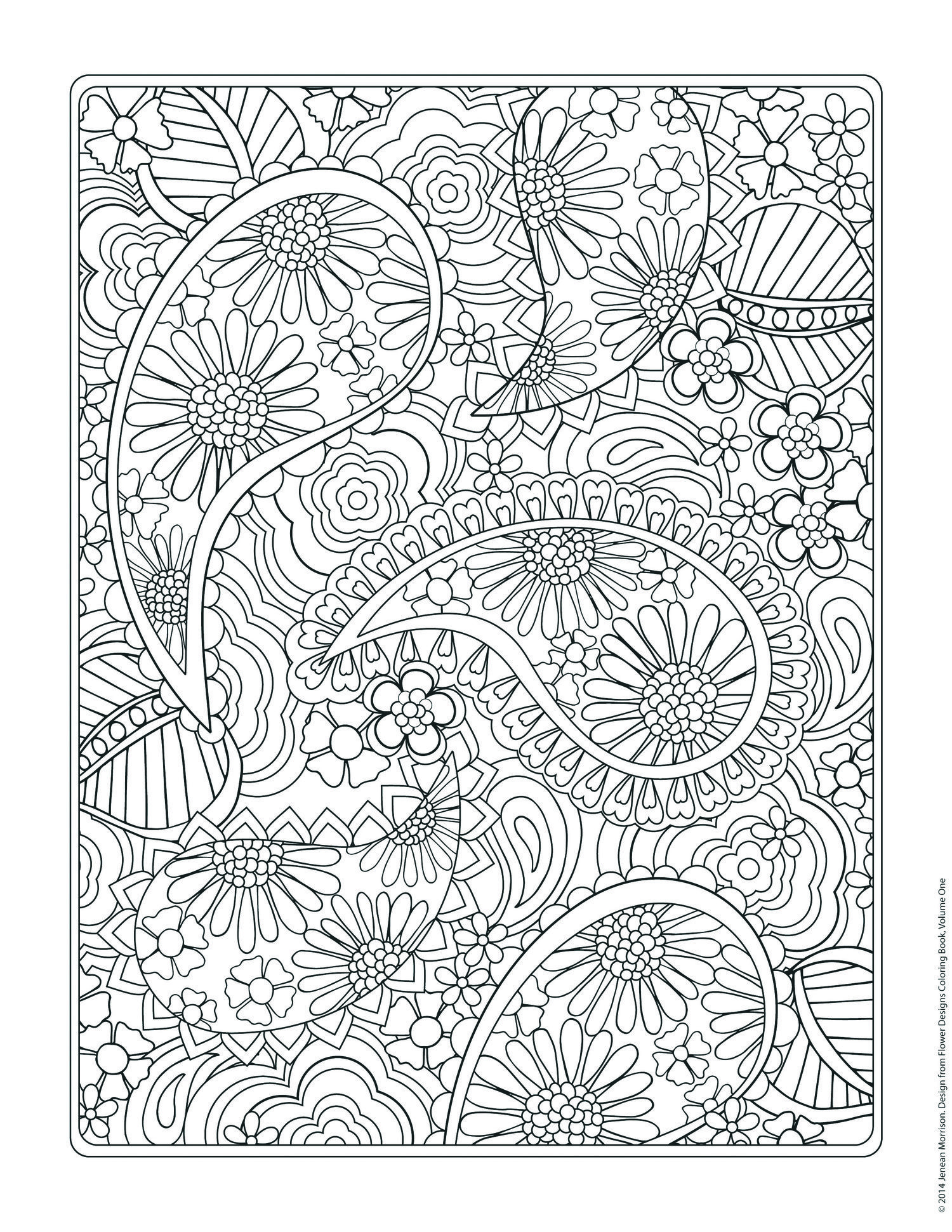 Free Coloring Page From Jenean Morrison S Flower Designs Coloring