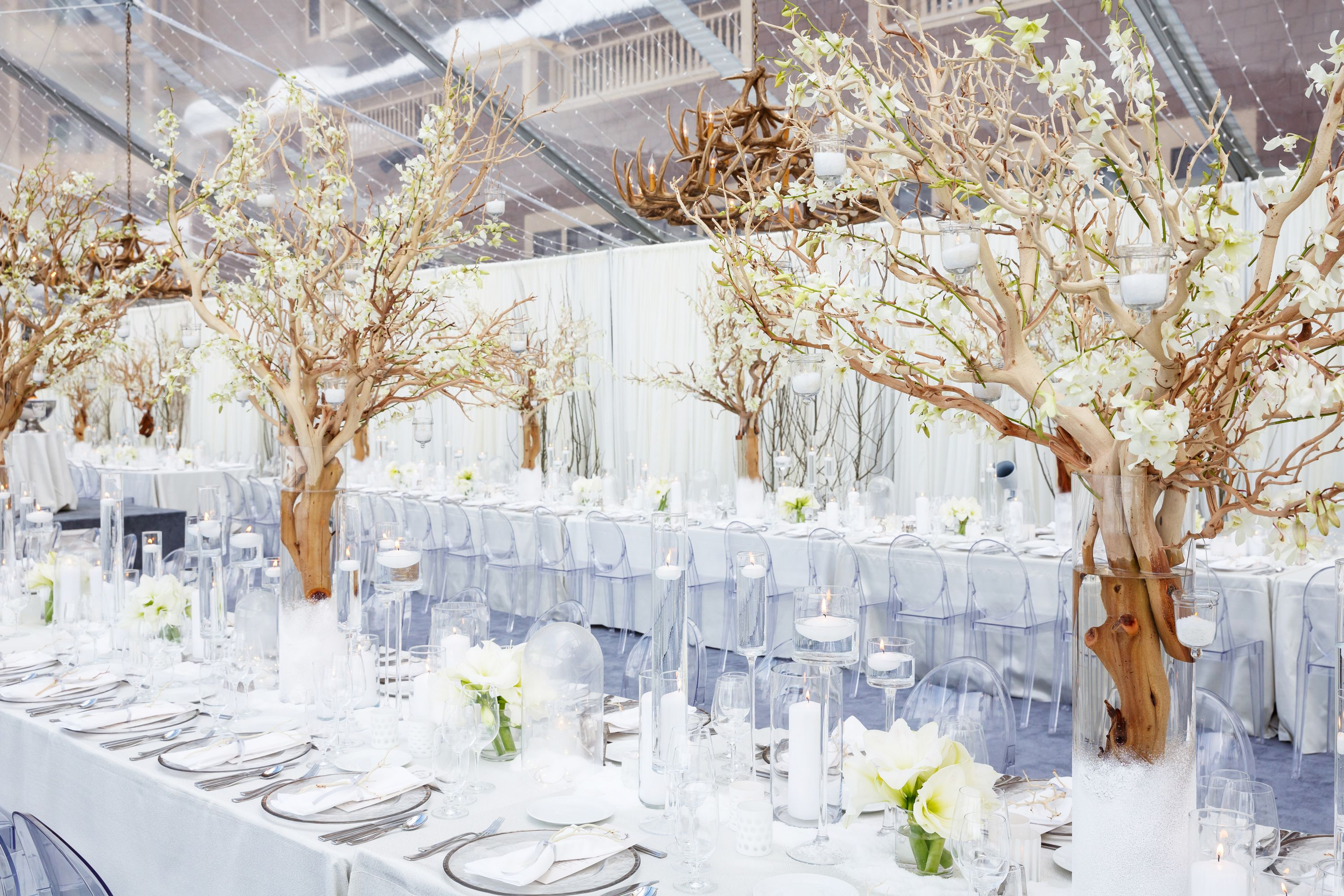 Wedding decor all white  How to Pull Off an AllWhite Wedding  Weddings Winter weddings and