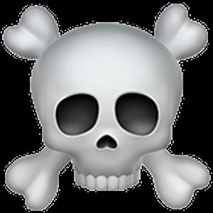 Skull And Crossbones Skull And Crossbones Skull Sticker Emoji