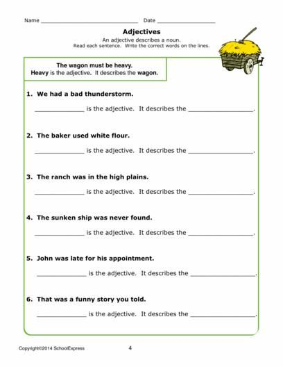 17000 Free Worksheets Adjectives Phonics Words Worksheets Free printable adjective worksheets for