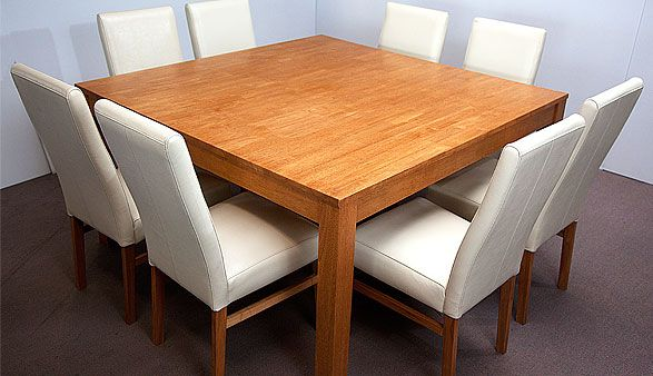 I Want An 8 Seater Square Table Now Square Dining Tables