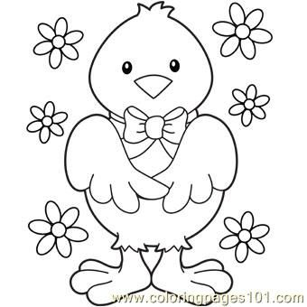 Easter chick Coloring Page Hsvti sznezk coloring easter