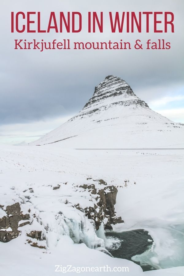 Kirkjufell and its waterfalls in Winter -- | Iceland Travel Tips | Iceland things to do | Iceland Itinerary | Iceland Scenery | Iceland Trip | Iceland Landscapes | Iceland Photography | things to do in Iceland | Iceland in Winter #iceland