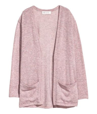 Fine Knit Cardigan Dusty Rose Kids H M Us Strickjacke Lange Strickjacke Rosa Strickjacke