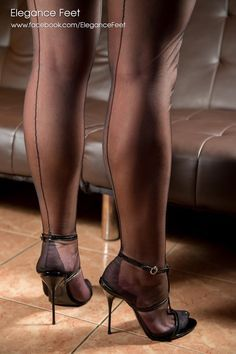 Fast nylon foot cums
