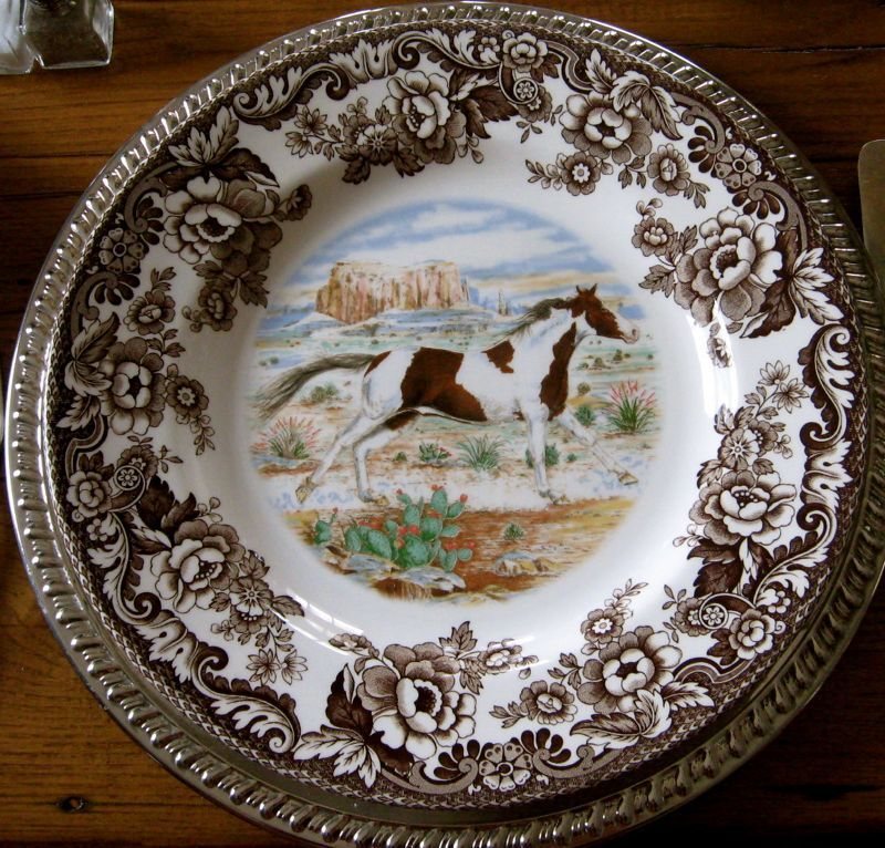 Spode Woodland china showing Paint Horse. Many other horse and animals scenes available. & Spode Woodland china showing Paint Horse. Many other horse and ...