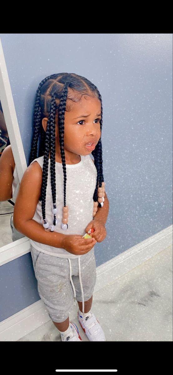 Pin By Alicia Boston On Babies In 2020 Black Girl Braided Hairstyles Baby Girl Hair Black Kids Hairstyles