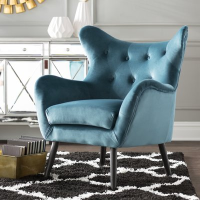 Willa Arlo Interiors Bouck Wingback Chair Color: Dark Teal